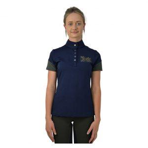 HY Fashion Edinburgh Navy / Olive Polo top